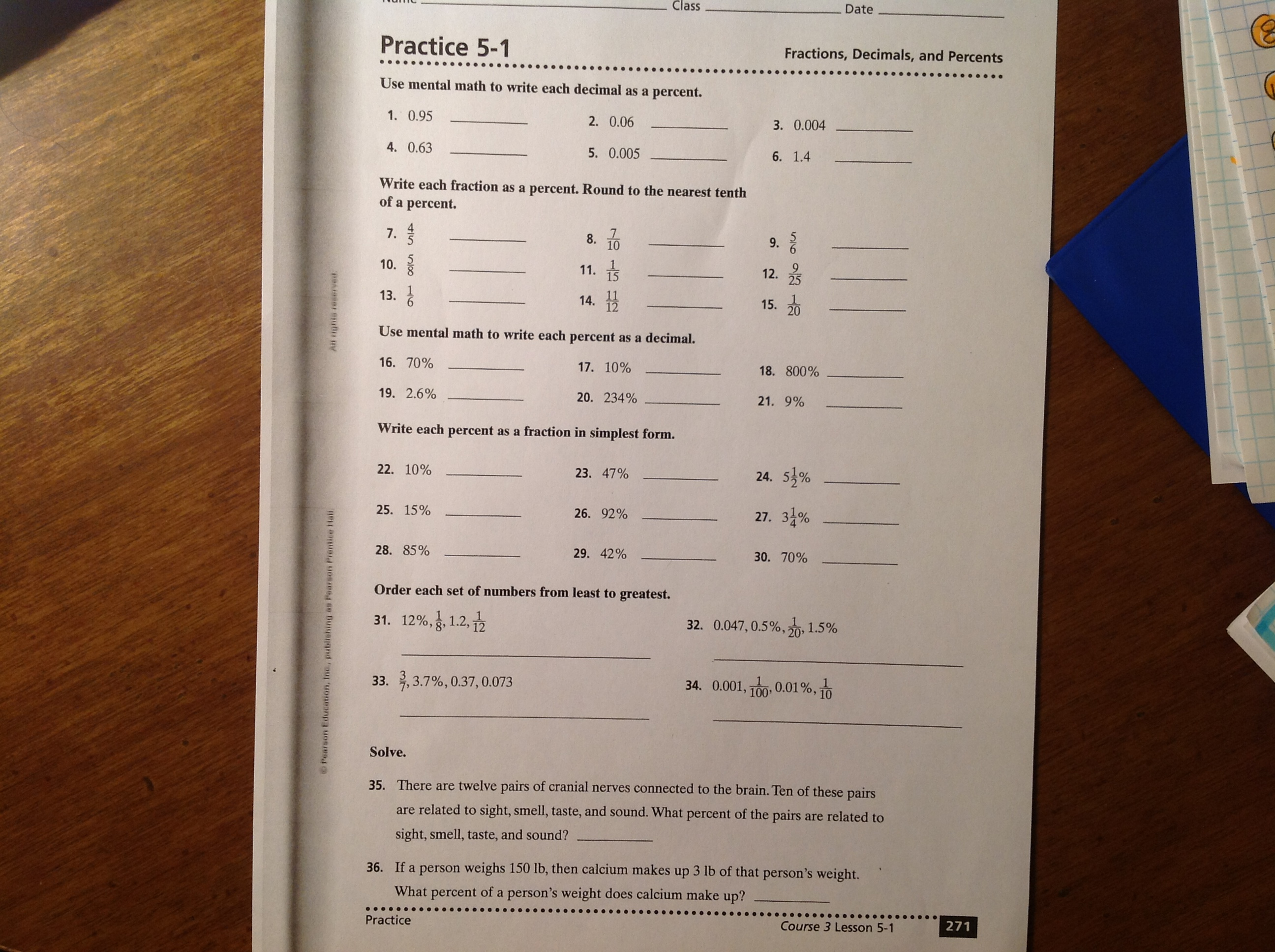 Ordering fractions decimals percentages worksheet tes